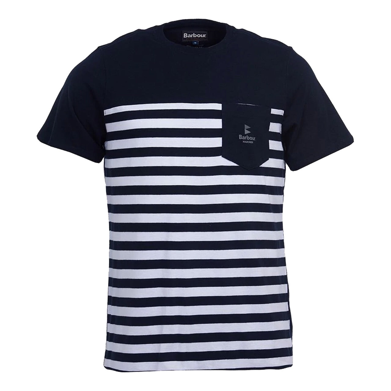 BARBOUR AMMON STRIPE T-SHIRT Navy