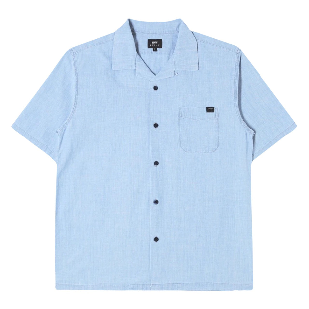 Edwin Resort Shirt SS Blue - Light Stone Washed