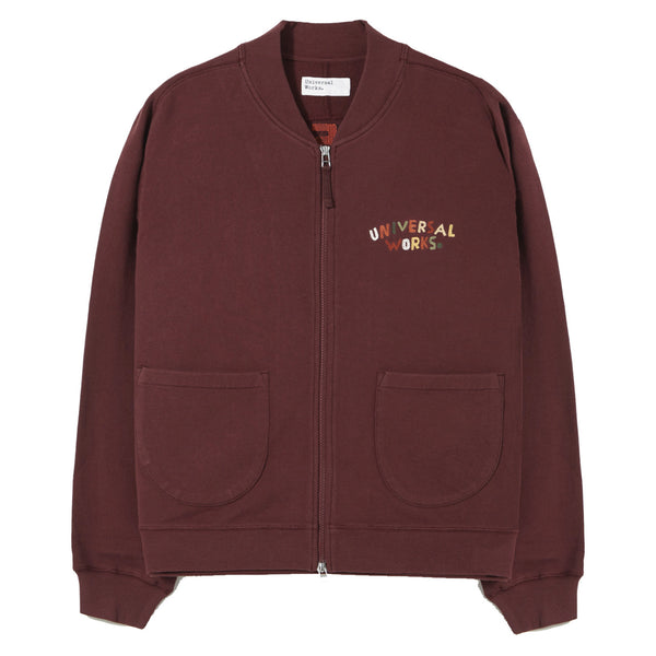 UNIVERSAL WORKS Embroidered Carbis Jacket In Raisin Loopback