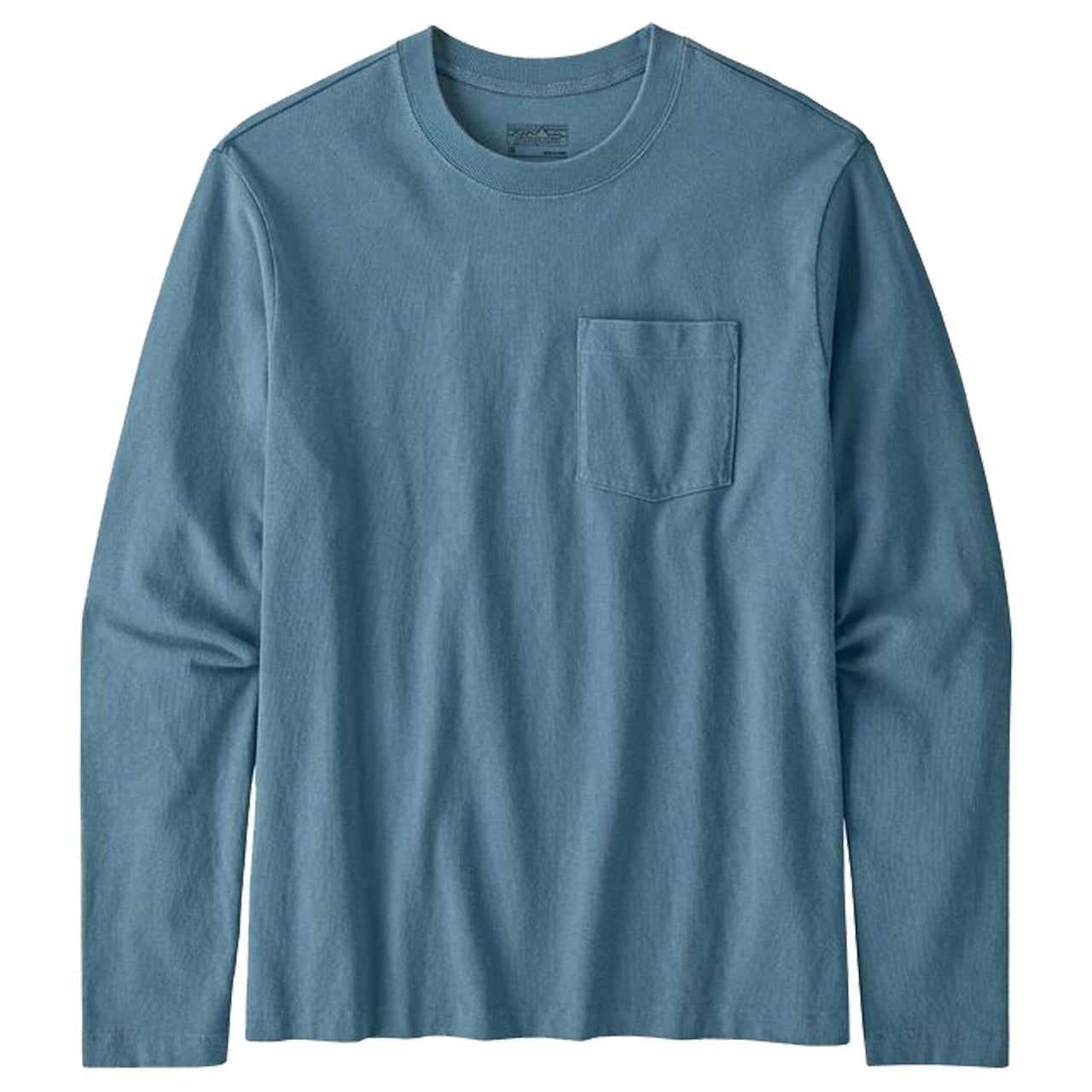 Patagonia Men's Long-Sleeved Organic Cotton Midweight Pocket Tee Pigeon Blue (PGBE)