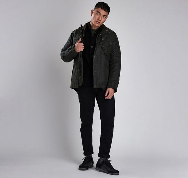 BARBOUR International Waxed Cotton Forest Jacket