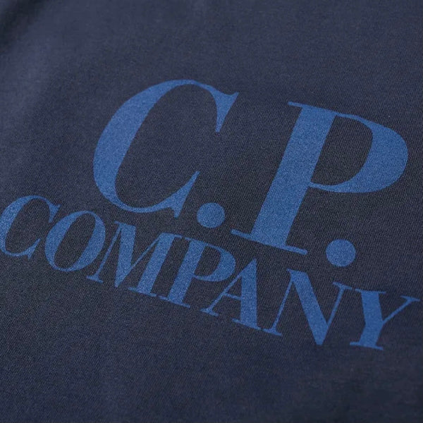 C.P. COMPANY Big Logo Tee Total Eclipse