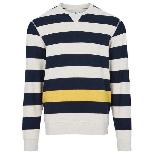 BARBOUR Earl Stripe Crew Navy White Label