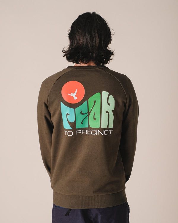 HIKERDELIC Peak Dove Sweatshirt Military Green