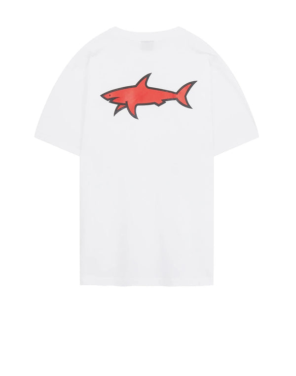 PAUL & SHARK Back Print T-Shirt In White