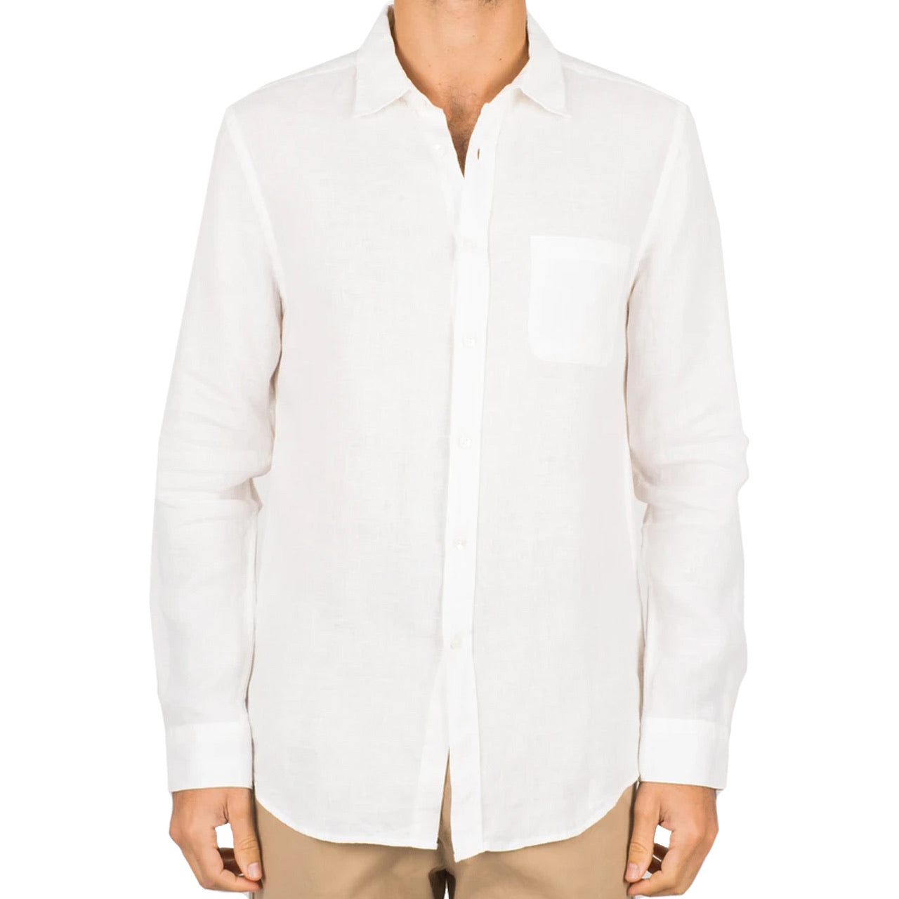 PORTUGUESE FLANNEL LINEN - Off White Shirt