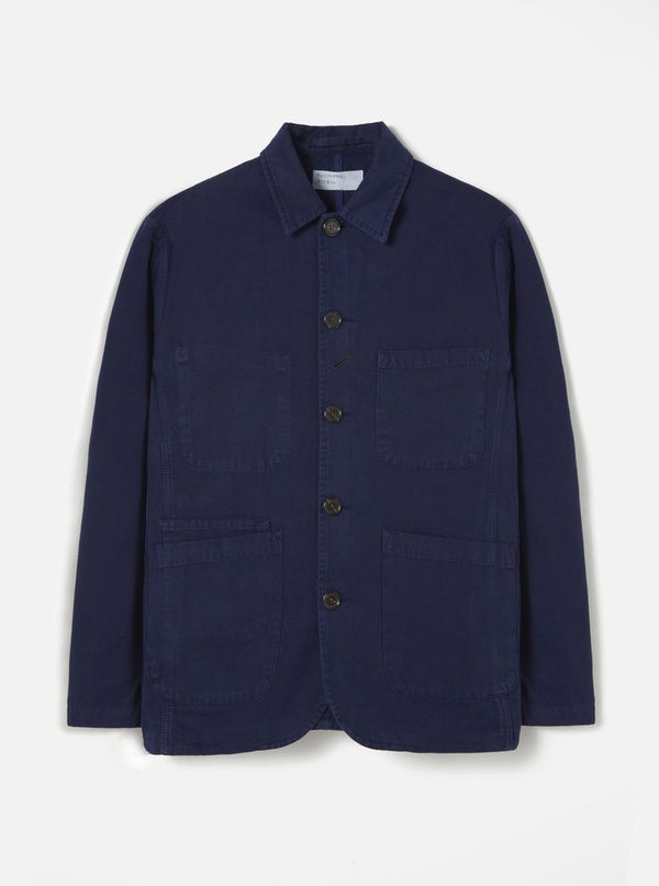 UNIVERSAL WORKS Bakers Jacket In Navy Canvas