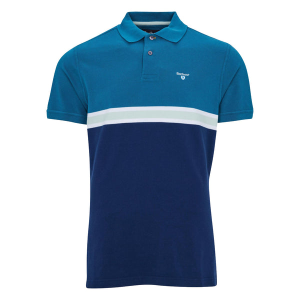 BARBOUR Block Colour Polo Shirt Lyons Blue