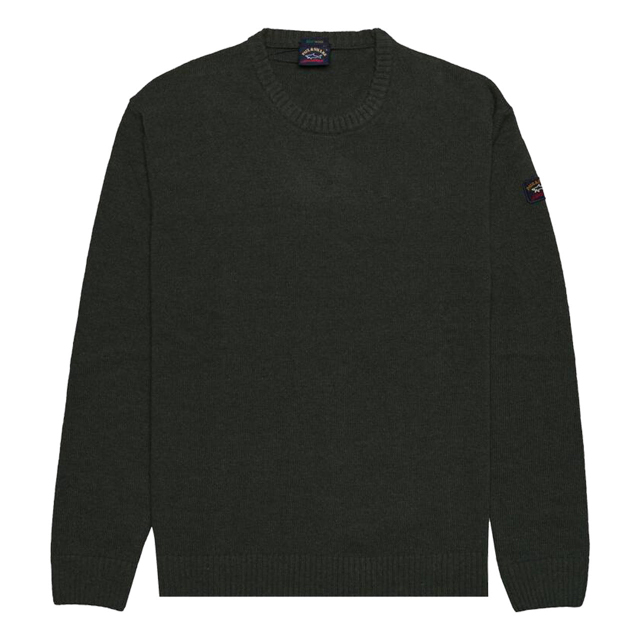 Paul & Shark CLASSIC ROUND NECK Eco Wool SWEATER Dark Green