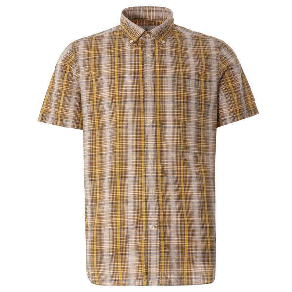 BARBOUR Carmet Short Sleeve Shirt Antique Yellow