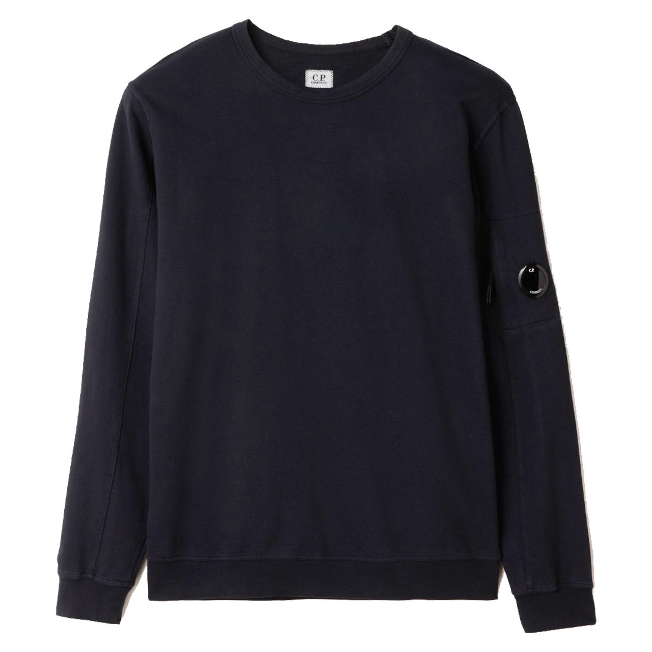 C.P. Company Light Fleece Garment Dyed Sweatshirt Blue