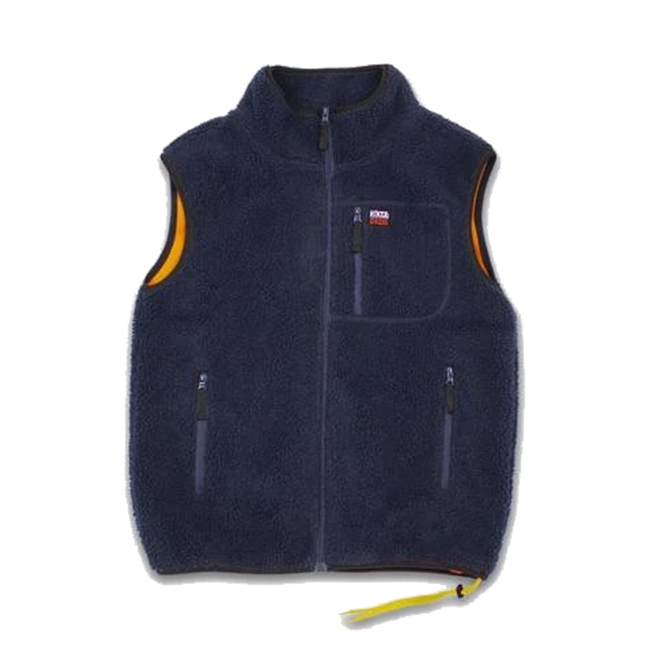 HIKERDELIC NEWBY FLEECE GILET - NAVY/ORANGE