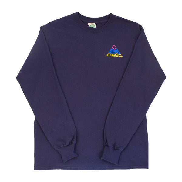 HIKERDELIC 60 DEGREES MOUNTAIN LONGSLEEVE T-SHIRT - NAVY/MULTI