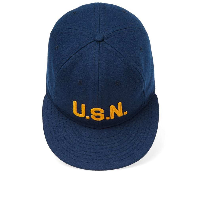 EBBETS FIELD Usn Great Lakes 1918 Navy Baseball Cap