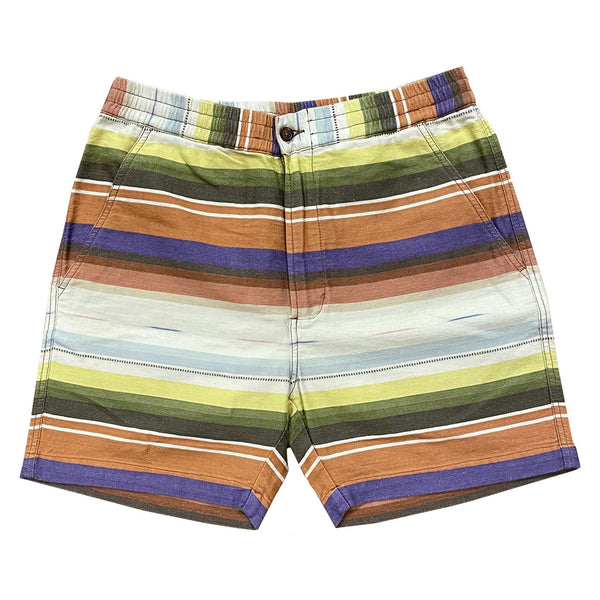 UNIVERSAL WORKS Shorts Mex Blanket Track Short Multi Stripe