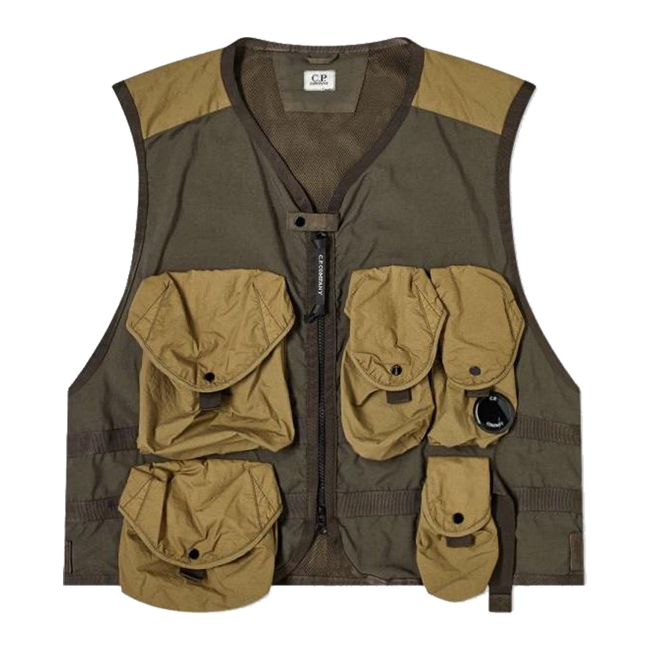 C.P. Company MULTI POCKET VEST IVY GREEN