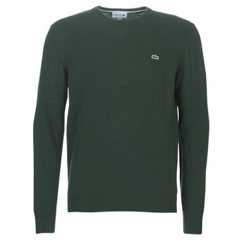 Lacoste Men's Crew Neck Pullover Wool Sweater AH0841 Vert