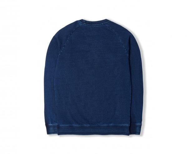 EDWIN Indigo Enzyme Washed Raglan Sweat