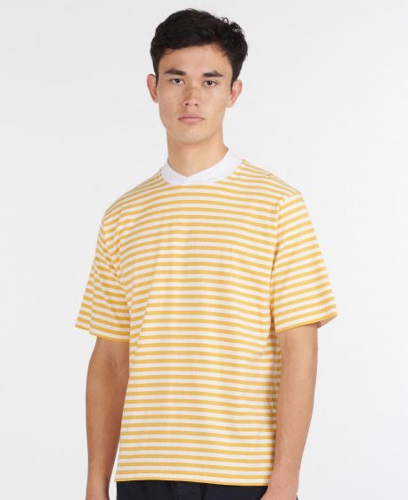 BARBOUR Inver Stripe Tee Antique Yellow