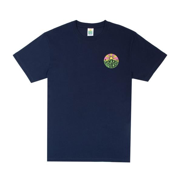 HIKERDELIC ORIGINAL LOGO SHORT SLEEVE T-SHIRT NAVY