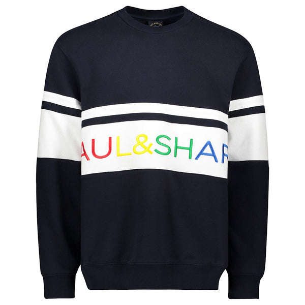 PAUL & SHARK Navy Sweatshirt With Embroidered Paul&Shark