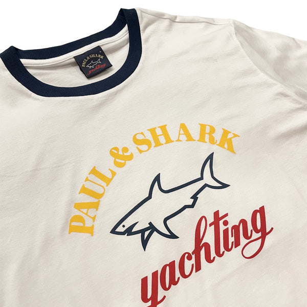 PAUL & SHARK Logo T-shirt White Navy
