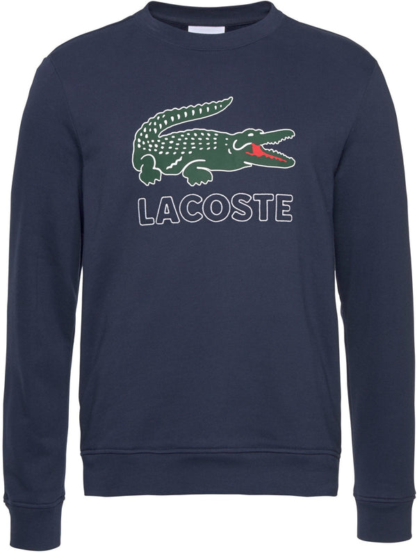 LACOSTE Logo Cotton Fleece Sweatshirt SH6382 Marine Blue