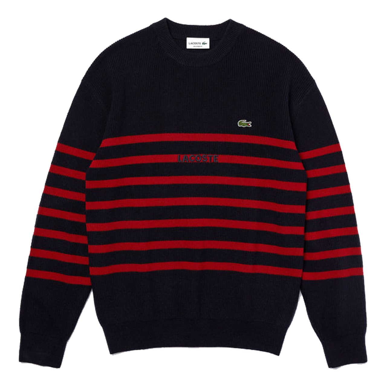 Lacoste Pullover Striped Sweater AH2006 Blue Red