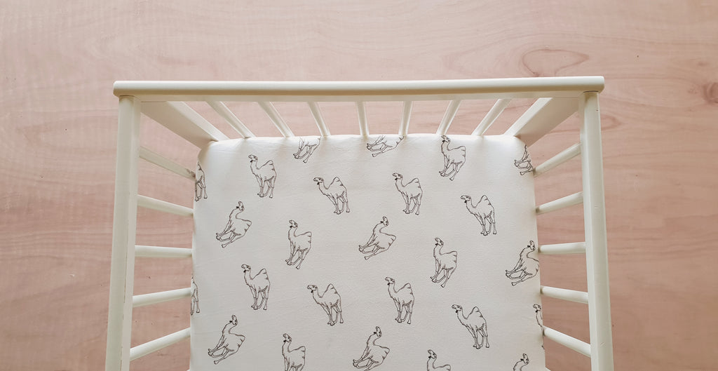 Organic Fitted Cot Sheet - Camels