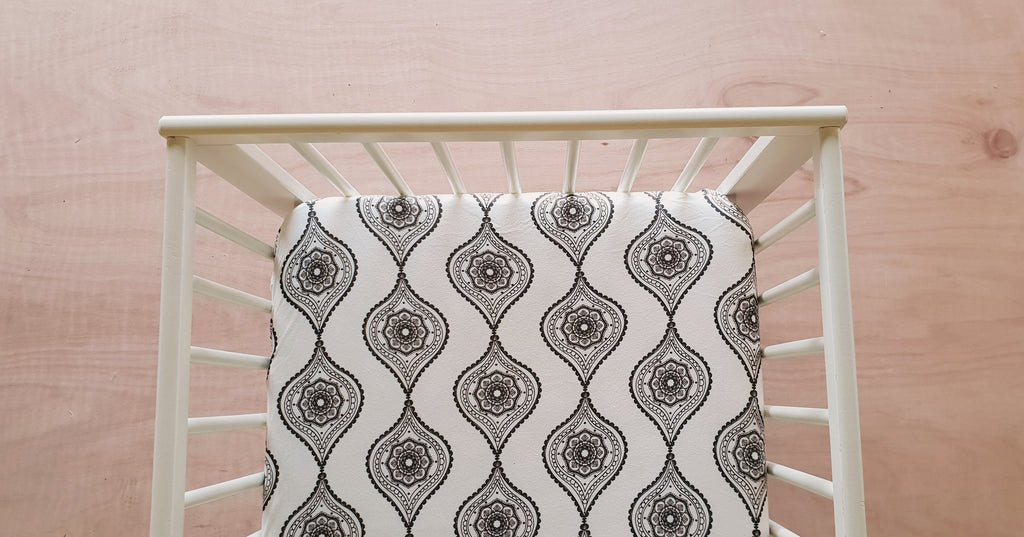 Organic Fitted Cot Sheet - Moroccan Lantern