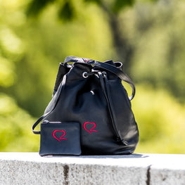Red Heart Duffel Bag - LeoTherese Designs
