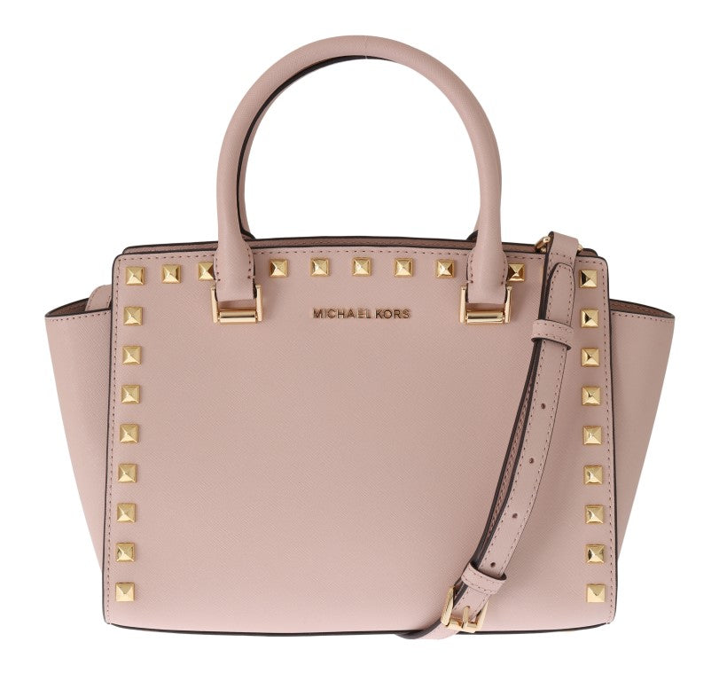 9de0c1371280 discoverclothing.co.uk - Michael Kors - Pink SELMA STUD Leather ...