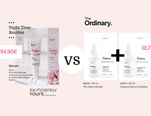 Skincerely Yours vs. The Ordinary – 10% Niacinamid Serum