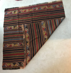 Anatolian Handwoven Rug - Natural Colours - Vintage from 1910s