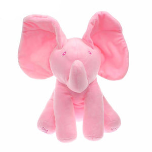 Animated Flappy The Elephant Plush Toy Pink
