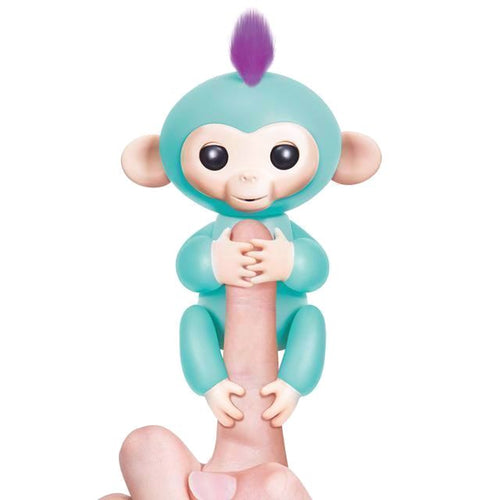 *limited Stock - Interactive Baby Finger Monkey Turqoise-Zoe