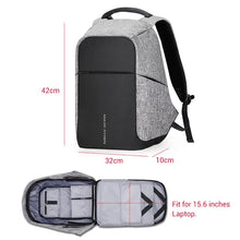 Multifunction USB charging 15inch Laptop Backpacks for Travel Gray USB