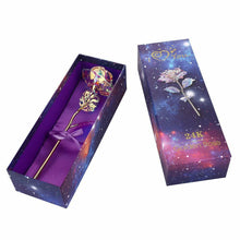 Romantic Galaxy Rose with Love Base Stand