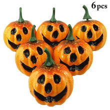 6 pieces Artificial Mini Cute Pumpkin Ornaments for Halloween