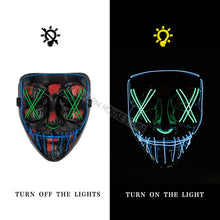Halloween Scary LED Light Up Party Mask