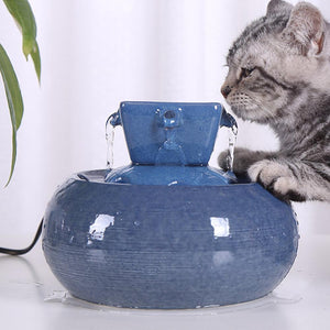 Ceramic Cat Water Fountain Bowl