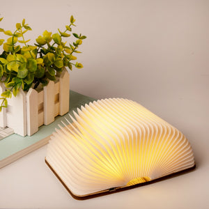 Portable LED Magnetic Wooden Book Night Light