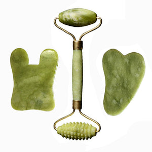 Natural Jade Stone Facial Roller - Massager