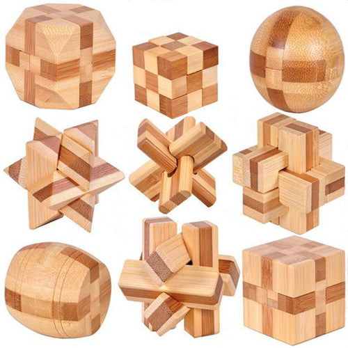 3D Wooden Interlocking IQ Brain Teaser | 9 pcs