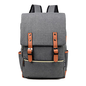 Canvas Backpack Light Black