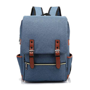 Canvas Backpack Blue