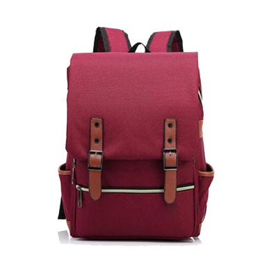 Canvas Backpack Burgundy