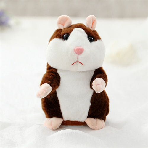 The Talking Hamster - Repeats What You Say! Brown