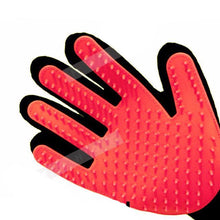 Pet Brush Glove For Dogs & Cats Red / Right