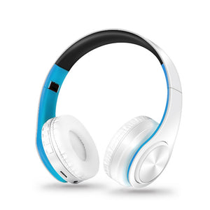 Foldable Bluetooth Headphone With Microphone Blue&white